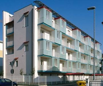 Edificio eco-sostenibile adibito a residenze sociali, Vercelli località Bertagnetta