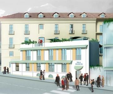 New temporary residences' compound in Piazza della Repubblica, Turin